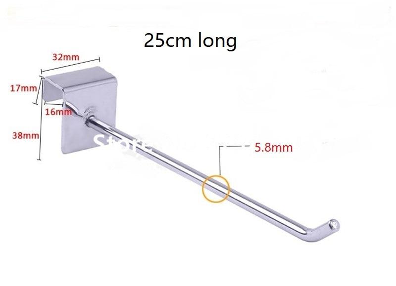 100 unidades pacote 25 cm de comprimento 6mm de diametro placa de peg pegs ganchos