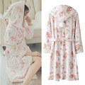 2017 Hot Women Bathrobe Robe Nighty Pajamas Winter Warm Women's Flannel Sleepwear Lounge Robes Floral Soft Sweet Nighty Robe 236