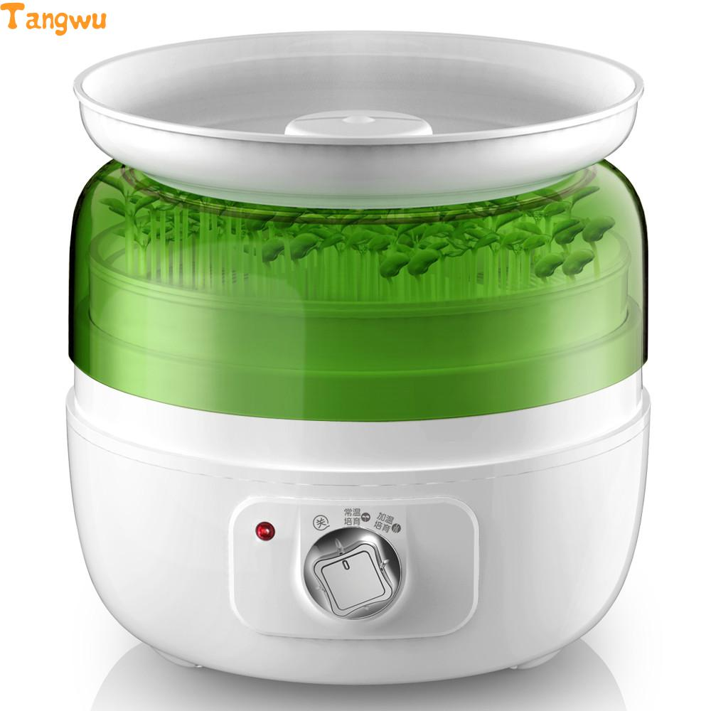 Free shipping Multi-function bean sprouts machine Automatic household intelligent bean sprouts machine Bean tooth machine bear three layers of bean sprouts machine intelligent bean sprout tooth machine dyj b03t1