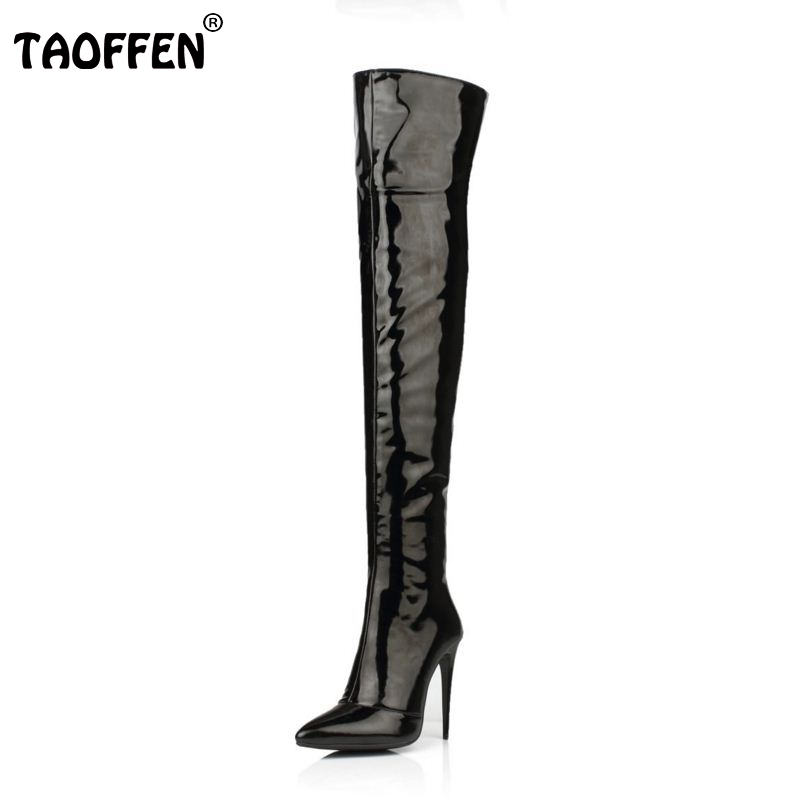 Plus Size 33-43 Botines Female Winter Boots Women Shoes Over Knee High Thigh Boots High Heel Suede Boots Botas Mujer Femininas choudory botines mujer black thigh high boots square heel round toe zip over knee high boots fashion motorcycle booties women