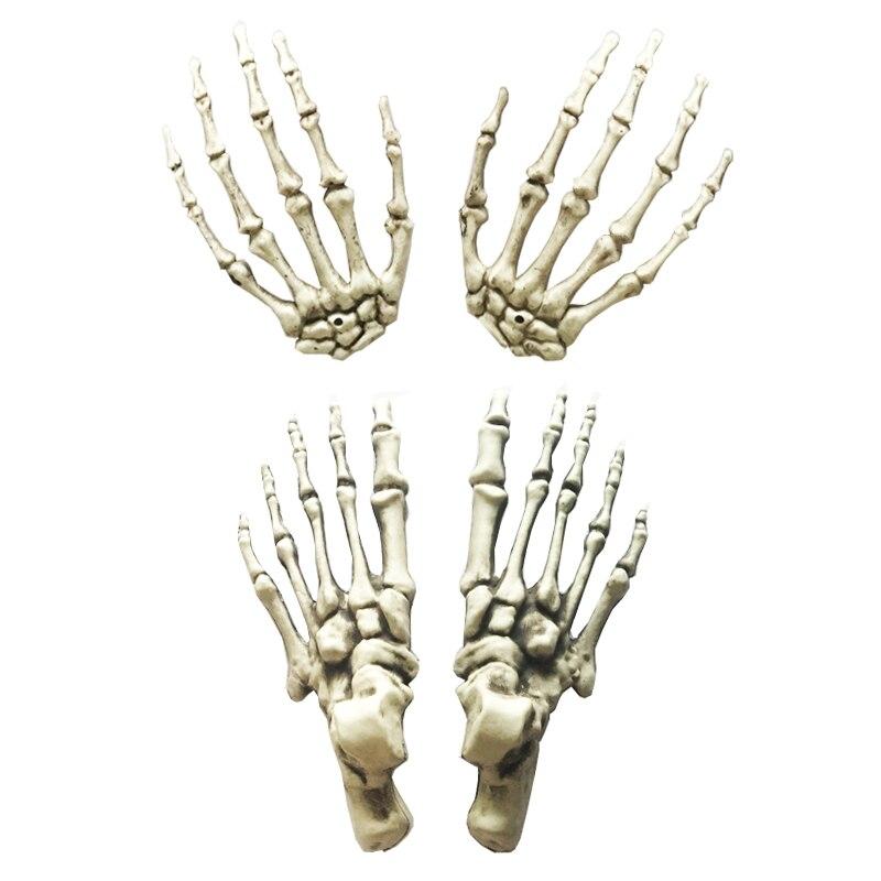 Tamaño Natural esqueleto de plástico manos y Pies para horror ...