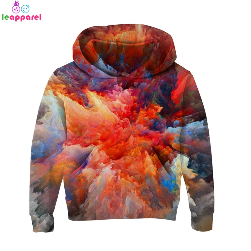 New Autumn Long Sleeve Girls Boys Hoodies 2019 Planet 3D Hooded Coat Brand Baby Girls Boys Clothes Pullover Kids Sweatshirts