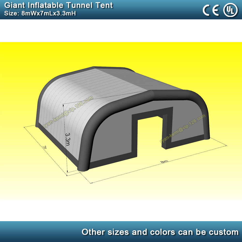 8mWx7mLx3.3mH giant inflatable tunnel tent large inflatable events tent outdoor party tent inflatable marquee inflatable cover