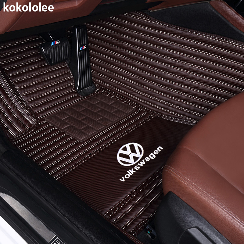 kokololee Custom car floor mats for Volkswagen vw Beetle Touareg Tiguan Phaeton vw EOS Magotan Scirocco Multivan sharan Variant