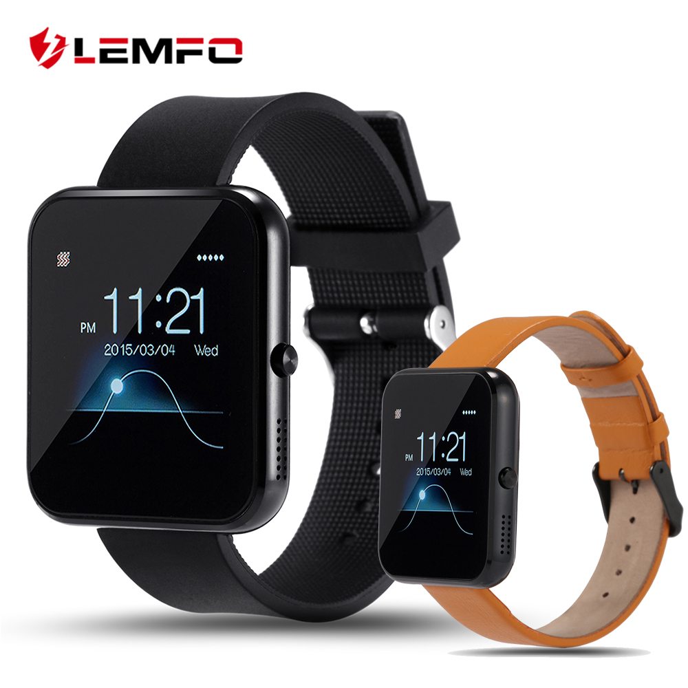 imágenes para Lf09 lemfo bluetooth smart watch mtk2502 muñeca smartwatch para ios android smartphone