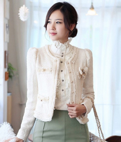 Aliexpress.com : Buy Womens Casual Short Tweed Jacket Slim Fit ...