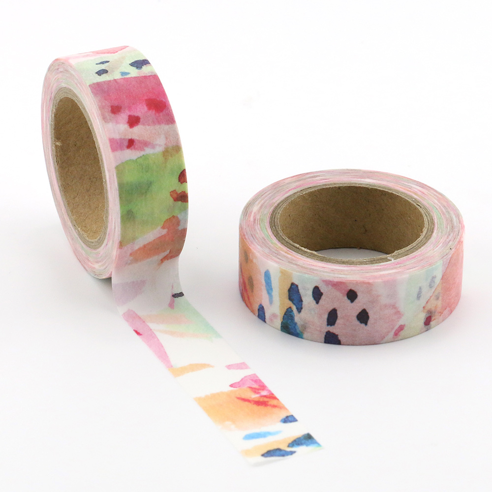 1pc Beautiful colorfuls Decorative Washi Tapes Paper DIY Scrapbooking Adhesive Masking Tapes 10m School Office Supply in Office Adhesive Tape from Office School Supplies
