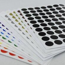 12 шт./лот 10 мм Круг Круглый цвет кодовый клей Этикетка точка стикер тег стикер s