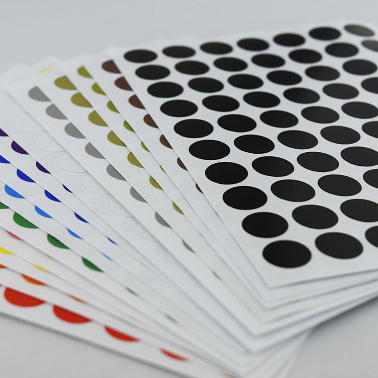 12Pcs/Lot 10mm Circle Round Color Coded Adhesive Label Dot Sticker Tag Stickers