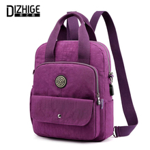 DIZHIGE Brand Waterproof Nylon Women Backpack High Quality School Bag For Teenager Girl Luxury Multi-pocket Ladies Backpack New