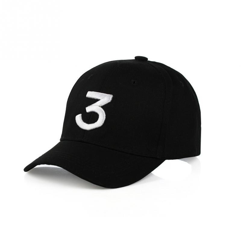 Popular Singer Chance The Rapper 3 Chance Cap Black Letter Embroidery 3D Baseball Cap Hip Hop Streetwear Snapback Hats bone para bordar