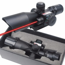 CVLIFE Hunting Rifle Scope 2.5-10x40e Red&Green Illuminated Crosshair Sniper Gun Optics Sight Riflescopes Electro Red Dot Sight