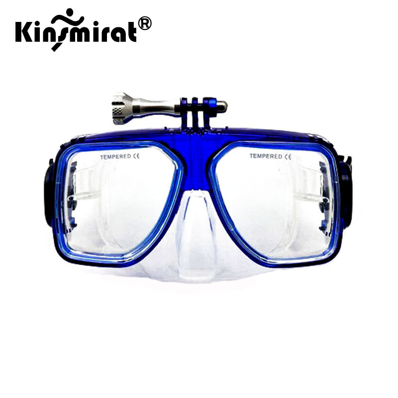 2017 Snorkel Mask With Camera Mount For Gopro Underwater Mask Glass Lens Adult Dive Diving Face Scuba Mask Swimming Goggles