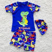 Cartoon Kids Lovely Swimsuit Quality Boys Swimwear Teenagers Two pieces Blue Infant Bath Suit Children Beachwear S XL