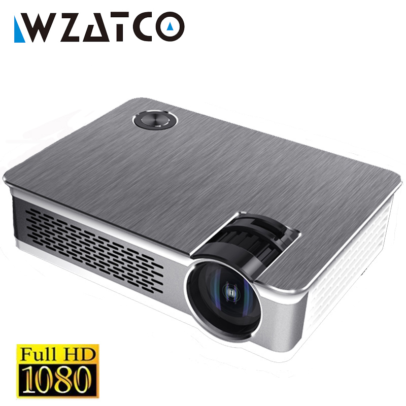 WZATCO CT580 Android 7.1 Full HD LED Projecteur 3800 Lumens Home Cinéma Portable Réel 1080 p Haute Résolution Beamer LED proyector
