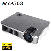 WZATCO Newest Android 7.1 Full HD LED Projector 3800Lumen Home Theater Portable Real 1080P High Resolution Beamer LED Proyector