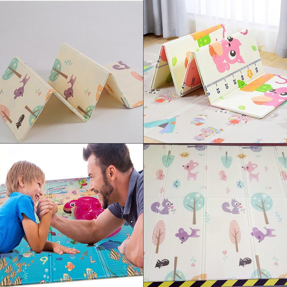 Tapis de XPE Enfants En Développement Tapis Pliable Bébé Ramper Puzzles Épaissie Infantile Bébé Jouer Tapis Enfants Tapis Puzzle 200*150 cm