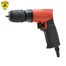 1-10mm Reversible Pneumatic Air Drill with F-R Switch Pneumatic Drills Bore Machine Tools Drilling Woodworking Metalworking Tool reversing straight type pneumatic drill with 3 8 bd 1021 10mm pneumatic air tools