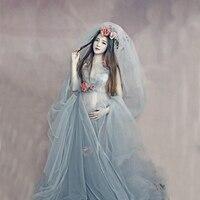ホット2018マタニティドレス結婚式パーティーマキシ妊娠中の女性マキシo襟レースドレスマタニティ写真撮影