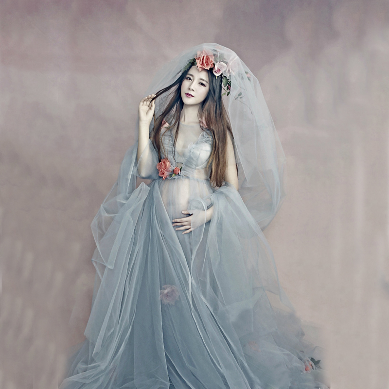 Hot 2018 maternity dress wedding party Maxi pregnant women Maxi O ...