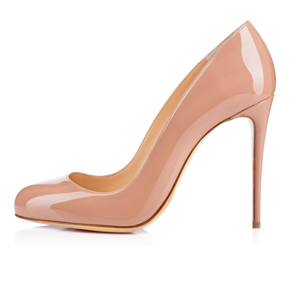 ФОТО Amourplato Ladies Women Handmade Fashion Borissima 100MM Round Toe Basic High Heel Party Pumps Shoes Many Colors For Pick