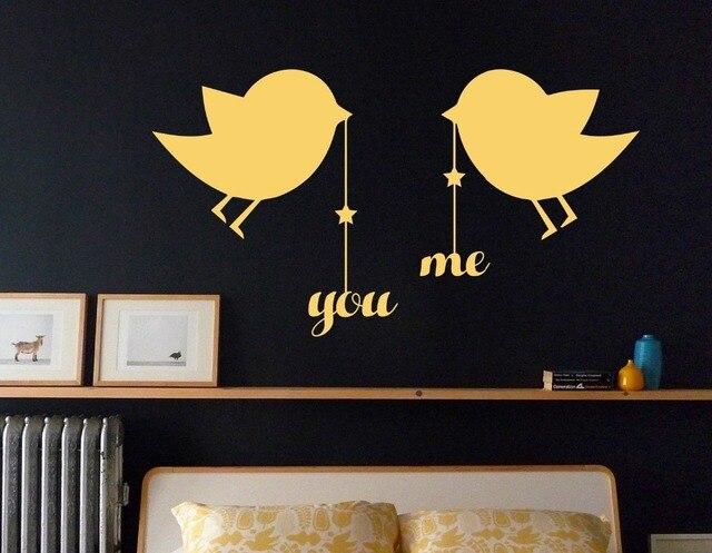 Slaapkamer Muur Quotes : Leuke muursticker kleine poult vogels opknoping u en mij quotes