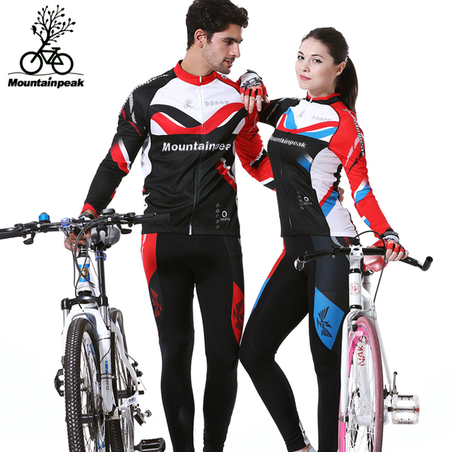 Spring Autumn Pro Team Cycling Jersey Set Long Sleeve Bicycle Bike