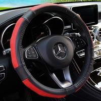 KKYSYELVA car steering wheel cover 38cm Fashion Wheel Covers for Women Lady Leather Steering wheel Auto Interior Accessories