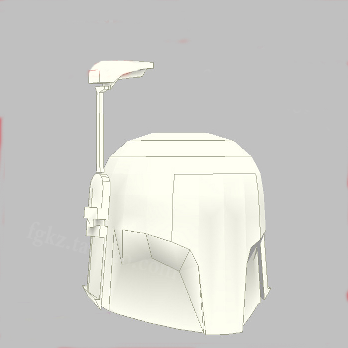 Paper Model Star Wars Clone Cadet Helmet Mask 1 1 Wearable Cosplay Model DIY Handmade Child