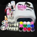 12 Colors UV GEL & 36W White Lamp Nail Art Tools Sets Kits