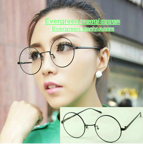 c13395543b82 Retro vintage metal round glasses preppy style harry potter thin leg frame  shades women men fashion eyeglasses KN104-in Eyewear Frames from Apparel ...