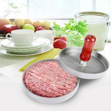 1 stücke Neue Ankunft Lebensmittelqualität Edelstahl Hamburger Patties Maker Burger Fleisch Presse 12*12*8 cm geflügel Werkzeuge Drop Shipping