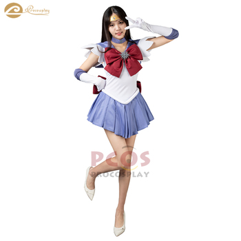 *Best Price&Ready to Ship* Sailor Moon Sailor Saturn Tomoe Hotaru Cosplay Costume women mp000307