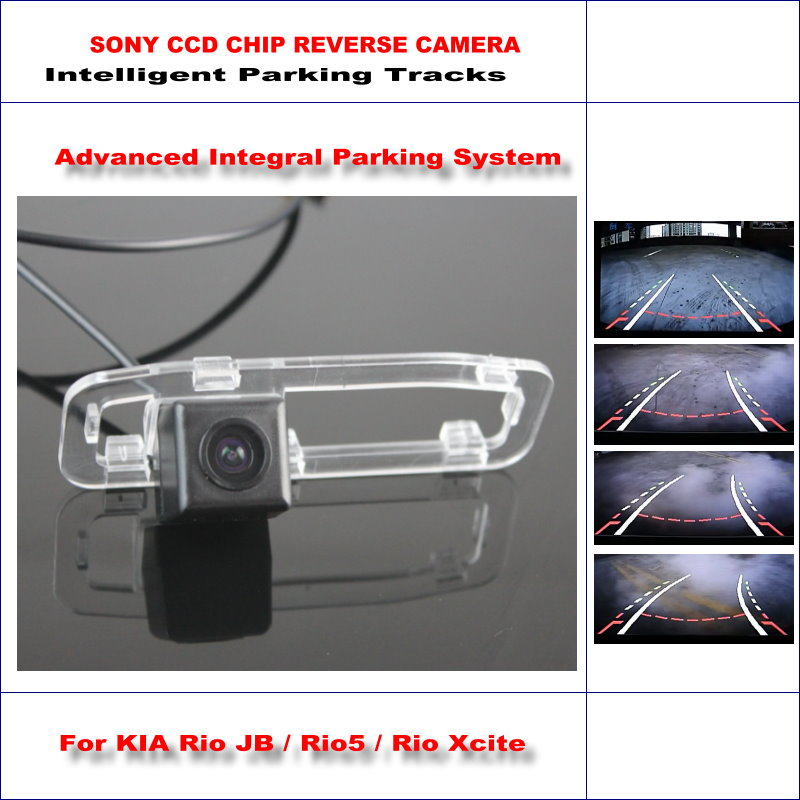 цены Intelligentized Reversing Camera For KIA Rio JB / Rio5 / Rio Xcite 2005~2011 Rear View / 580 TV Lines Dynamic Guidance Tracks