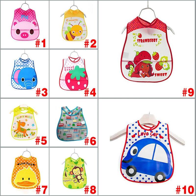 Baby Kids Cute Cartoon EVA Waterproof Silicone Children Bibs Boys Girls Infants Burp Clothes Feeding Care FJ88