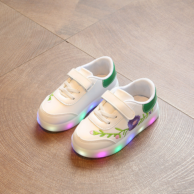 Chaussures de sport lumineuse a fleurs pour bébés