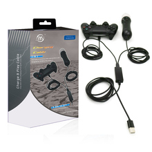 2 en 1 USB Cable de carga adaptador para psvr PlayStation VR PS4 11.5ft/3.5 m cable adaptador para dual choque PS4 controlador