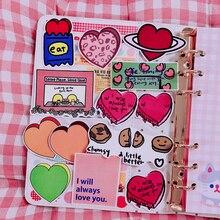 13Pcs/Packs Cartoon Love Pattern Oversized Sticker Hand Book Album Note Decoration Show Love Image DIY Waterproof Sticker