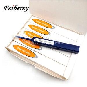 Image 5 - 5 pces um clique lc mu caneta de limpeza de fibra óptica com pano de limpeza e tampa de poeira para 1.25mm lc/mu fibra óptica conector mais limpo
