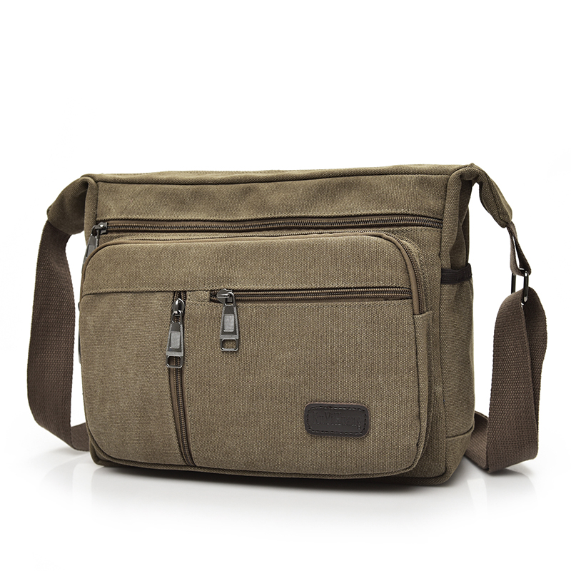 High Quality Multifunction Men Canvas Shoulder Bag Casual Travel Bolsa Men's Crossbody Bag Vintage School Men Messenger Bags