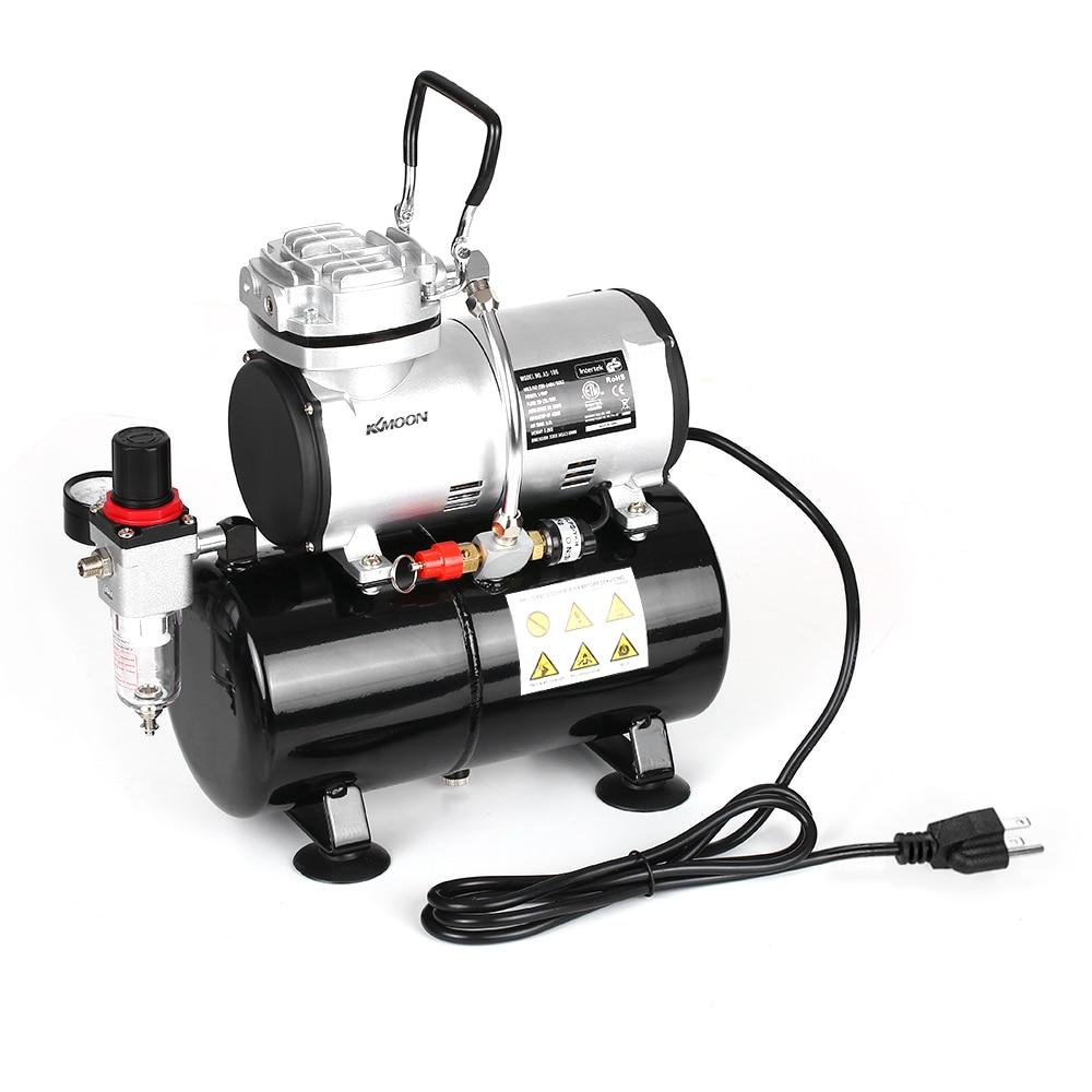 KKmoon Professional Аэрограф компрессор без масла тихий насос высокого давления тату Маникюр распыление воздушный компрессор танк