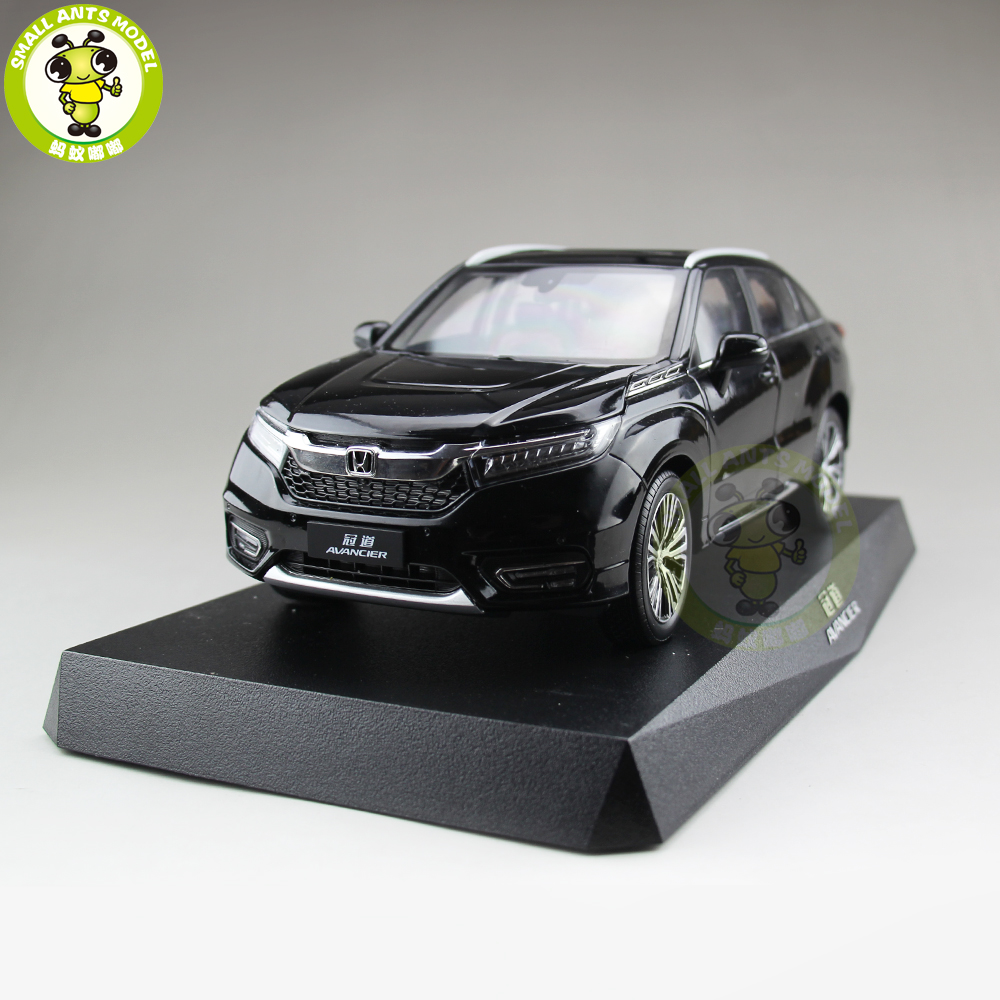 1/18 Honda SUV AVANCIER Diecast Metal Car SUV Model Toys Girl Boy Gift Collection Hobby Black 1 18 bjc jeep 212 with cannon army military suv diecast alloy metal suv car model toy boy girl birthday gift collection hobby