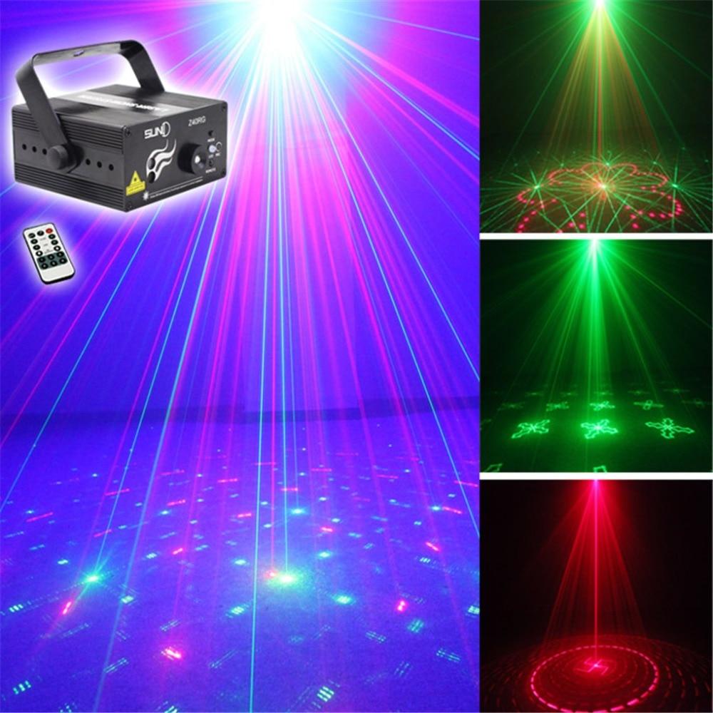ФОТО New 3 Lens 40 Gobos RG Laser Projector Stage Equipment Lights 3W Blue LED Mixing Effect DJ KTV Show Laser Stage Lighting AZ40RG