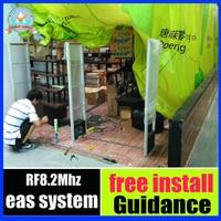 8 2mhz EAS RF Security Gate Clothing Anti Theft Alarm System Anti Shoplifting System