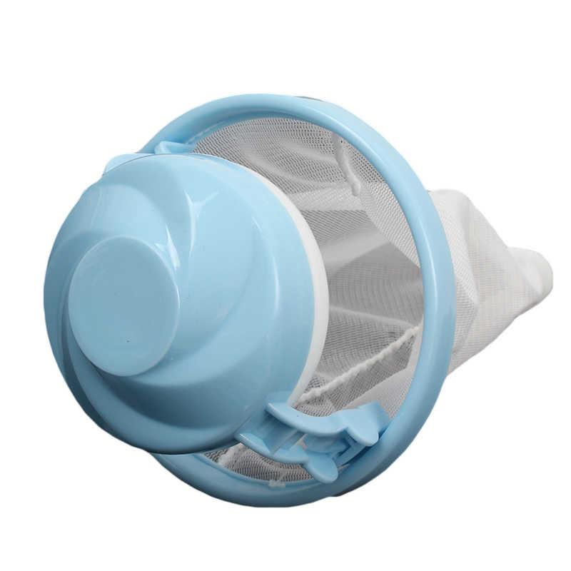 Maille filtre sac flottant Style Machine à laver laine Filtration dispositif d'épilation ménage nettoyage nécessaire