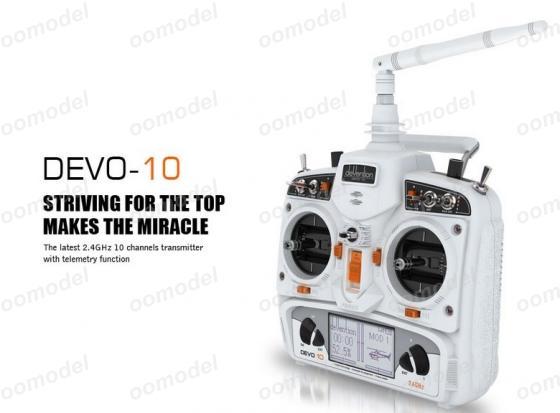 Walkera Devo 10 white 2.4Ghz 10Ch Walkera Radio Without Receiver FreeTrack Shipping