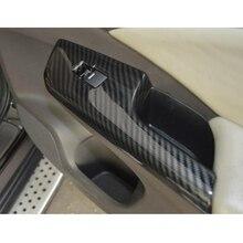 4 قطع/مجموعة غطاء إطار مفتاح نافذة مسند ذراع باب السيارة ملصق تزيين الحافة لهوندا CRV 2012 2016 LHD