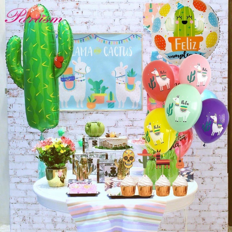 Us 1 34 17 Off 1set Mexican Party Foil Balloon Final Fiesta Cactus Banner Bachelorette Party Decoration Summer Wedding Birthday Supplies In Party