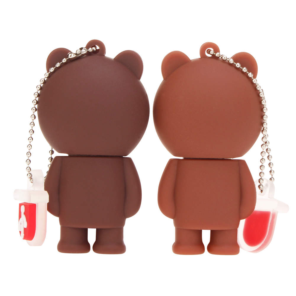 New Rilakkuma Bear pen drive 4GB 8GB 16GB 32GB 64GB 128GB usb flash drive pendrive Cartoon USB 2.0 Memory Stick Bear Brown Gifts (3)