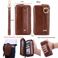 Finger Ring Belt Hand Strap PU Wallet Mobile Phone Case Pouch For Xiaomi Pocophone F1,Mi A2 Lite,Redmi Note 6 Pro,Oppo F9/F9 Pro